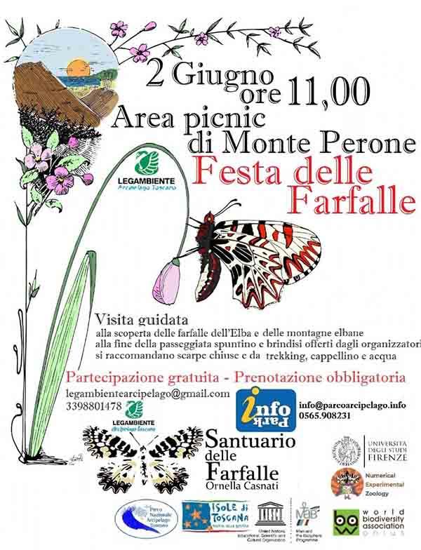Locandina Festa delle Farfalle Isola D'Elba - 2 Giugno 2021