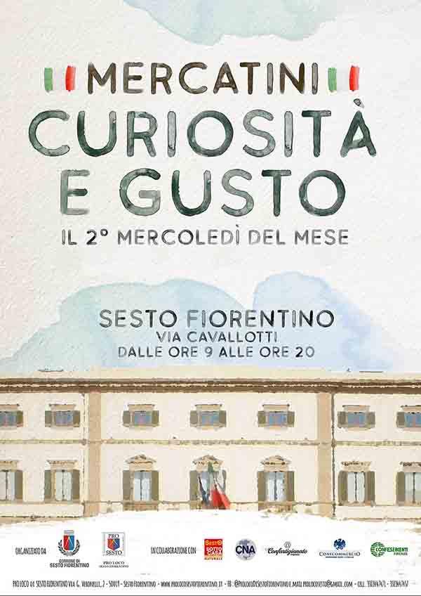 Locandina Mercatini Curiosità e Gusto - Sesto Fiorentino