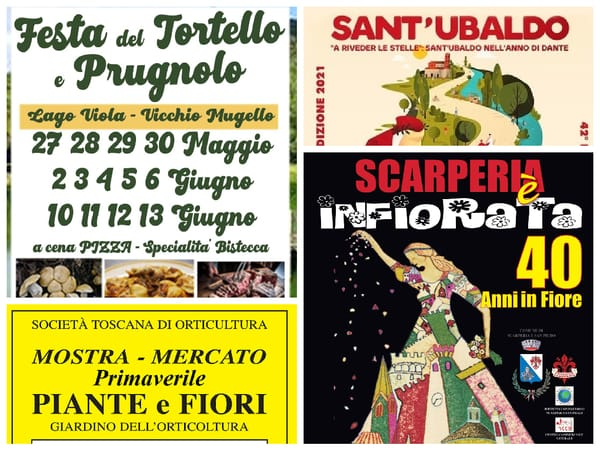 Eventi Toscana Weekend 28 29 30 maggio