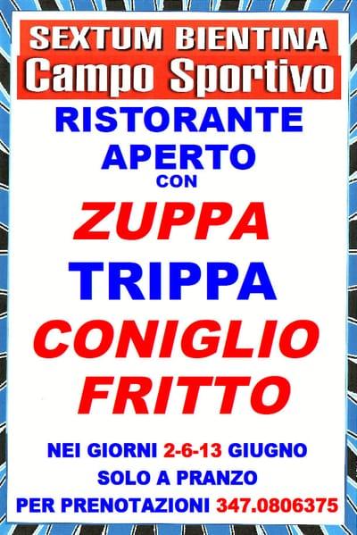 Festa Zuppa Trippa Coniglio Bientina