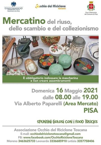 Mercatino Riuso Pisa Maggio 2021