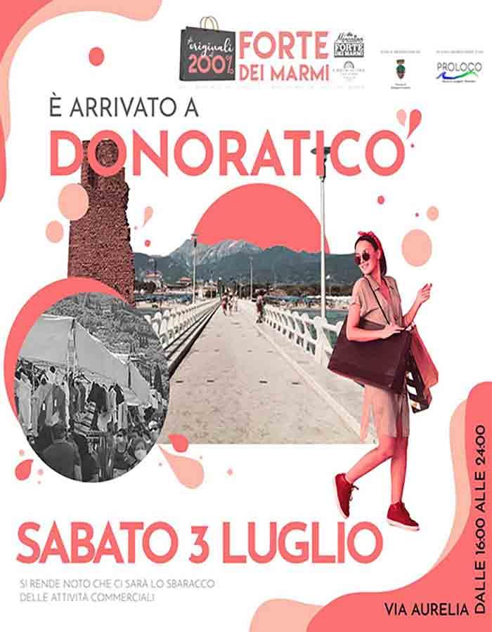 Manifesto Mercato da Forte dei Marmi a Donoratico - 3 Luglio 2021