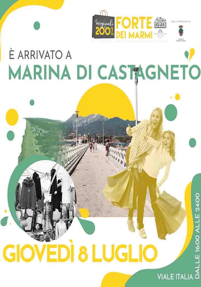 Manifesto Mercato del Forte a Marina di Castagneto Carducci - 8 Luglio 2021