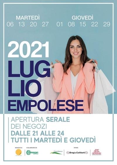 Aperture negozi Empoli Luglio 2021