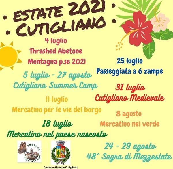 Eventi Estate 2021 Cutigliano