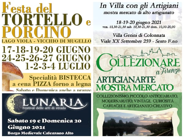 Eventi Toscana Weekend 18 19 20 Giugno
