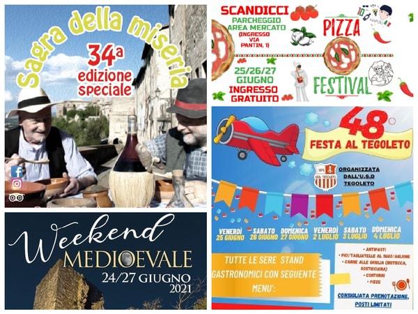 Eventi Toscana Weekend 25 26 27 Giugno
