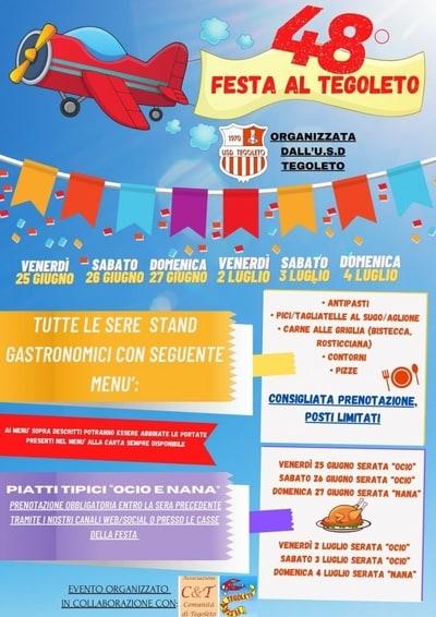 Festa Tegoleto 2021 Giugno Luglio