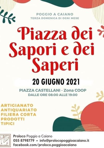 Piazza dei Sapori e dei Saperi GIugno 2021