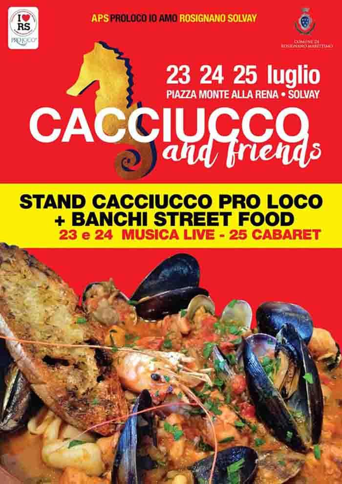 Manifesto Cacciucco and friends Rosignano Marittimo 24-25-26 Luglio 2021