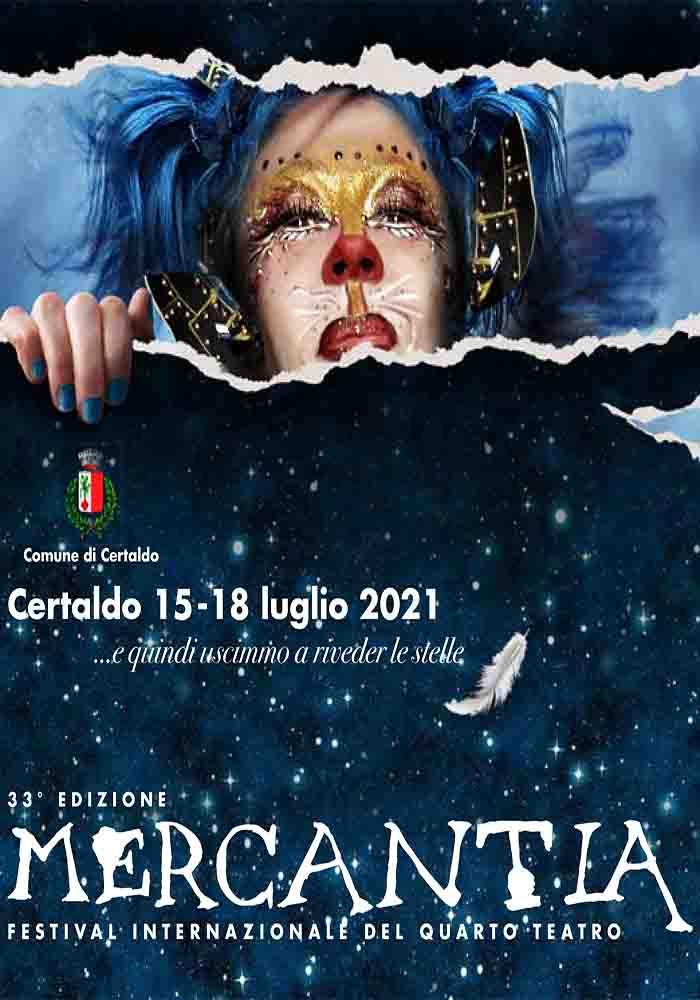 Manifesto Mercantia a Certaldo 15-18 Luglio 2021 - Artisti Teatro di Strada
