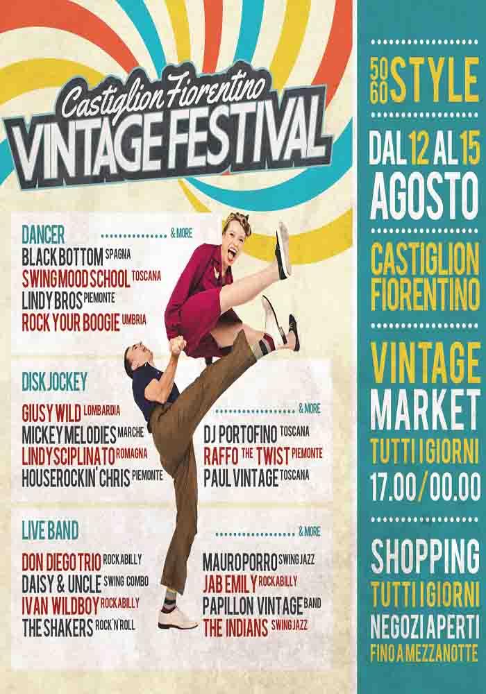 Manifesto Vintage Festival a Castiglion Fiorentino 2021