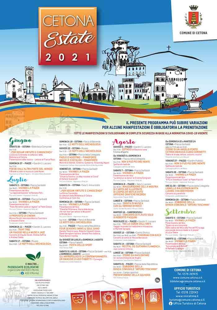 Programma Eventi a Cetona Estate 2021