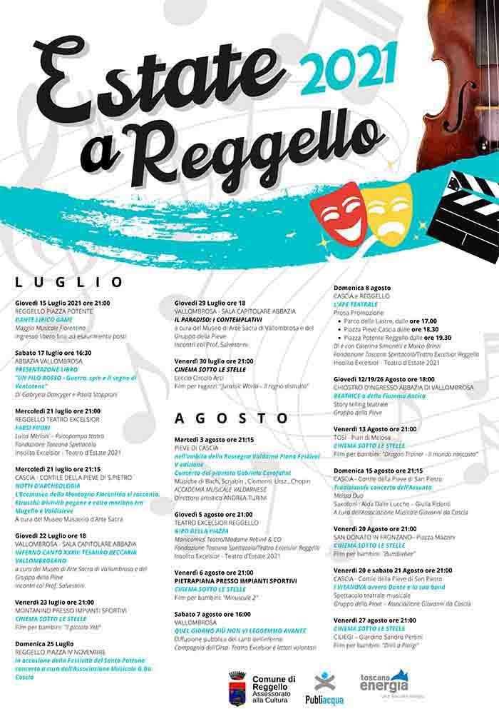Programma Eventi a Reggello Estate 2021 Luglio e Agosto