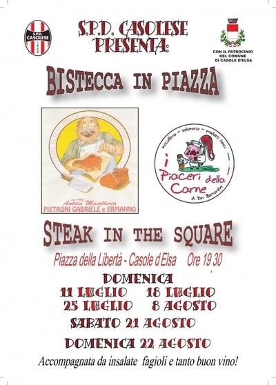 Bistecca in Piazza Casole D'Elsa