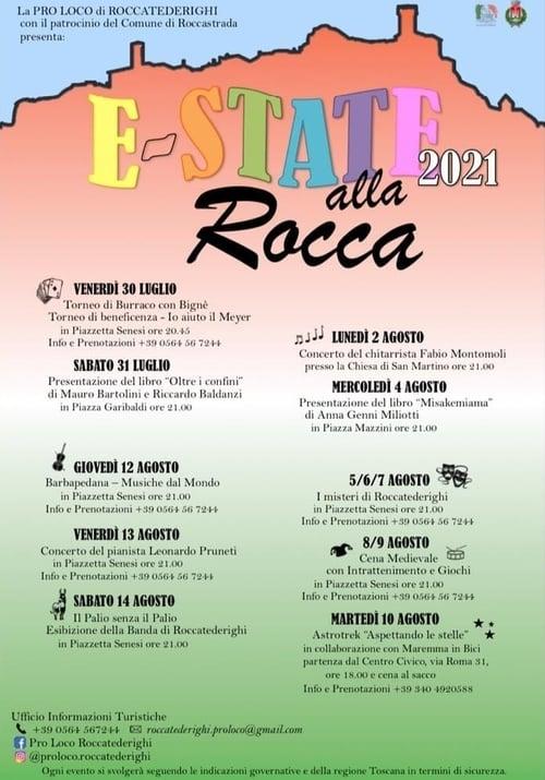 Eventi Estate 2021 Roccatederighi