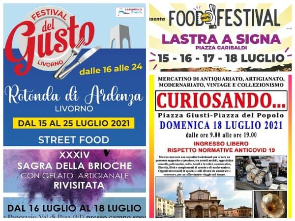 Eventi Toscana Weekend 16 17 18 Luglio 2021