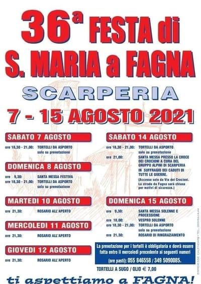 Festa Santa Maria a Fagna 2021