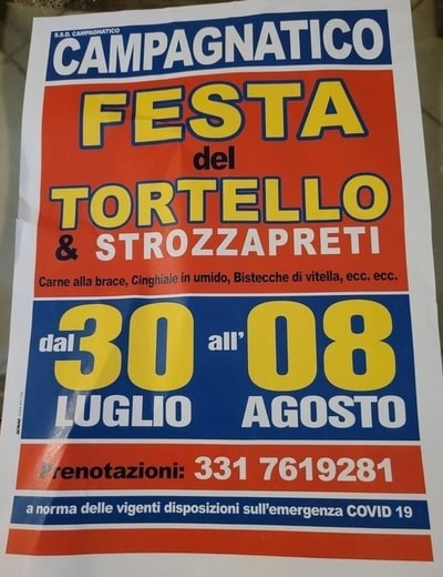 Festa Tortello Strozzapreti Campagnatico 2021