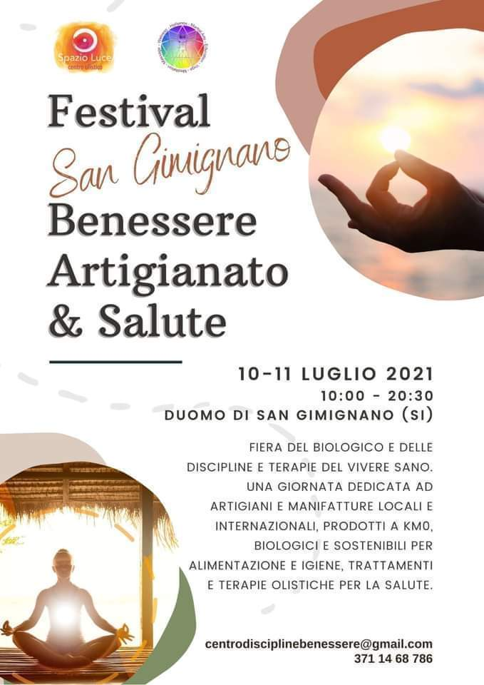 Festival San Gimignano Artigianato Benessere