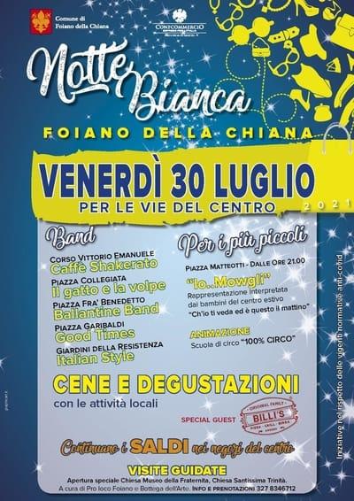 Notte Bianca Foiano della Chiana 2021