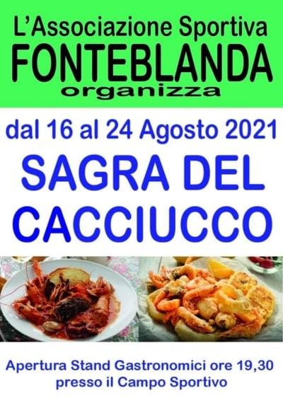 Sagra Cacciucco Fonteblanda 2021
