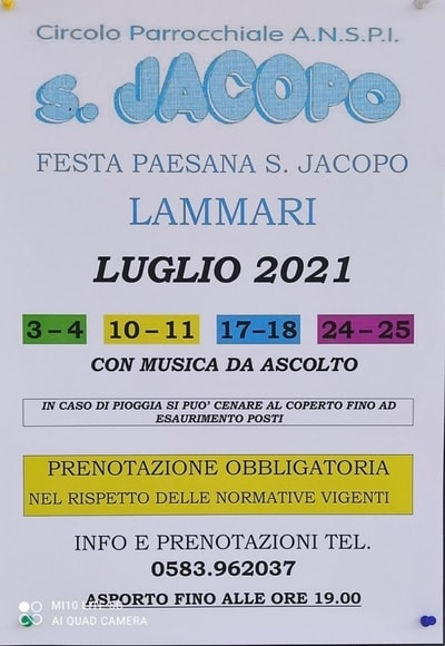 Sagra Paesana San Jacopo 2021