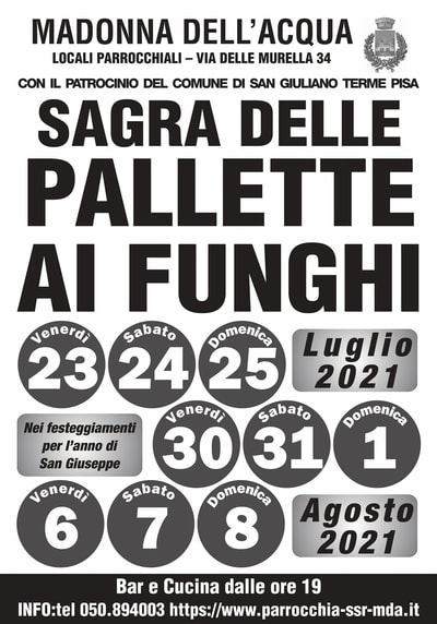 Sagra Pallette Madonna Acqua 2021