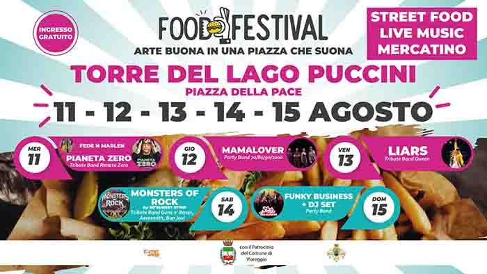 Food Festival a Torre del Lago Puccini 11-15 Agosto 2021
