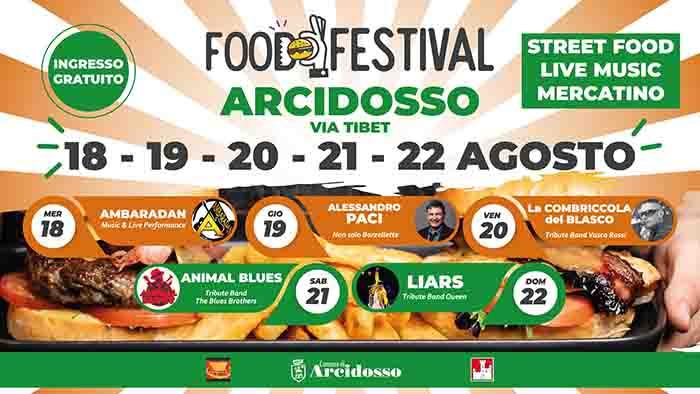 Food Festival ad Arcidosso 18-22 Agosto 2021