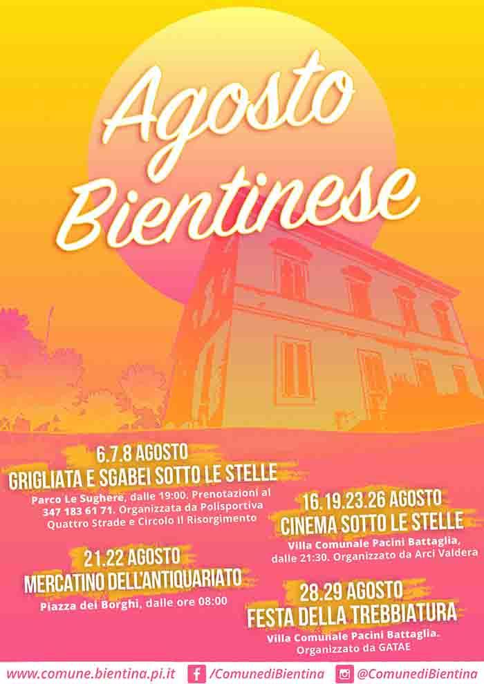 Manifesto Agosto Bientinese 2021 a Bientina Pisa