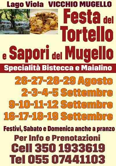 Manifesto Festa del Tortello e Sapori del Mugello 2021 a Vicchio