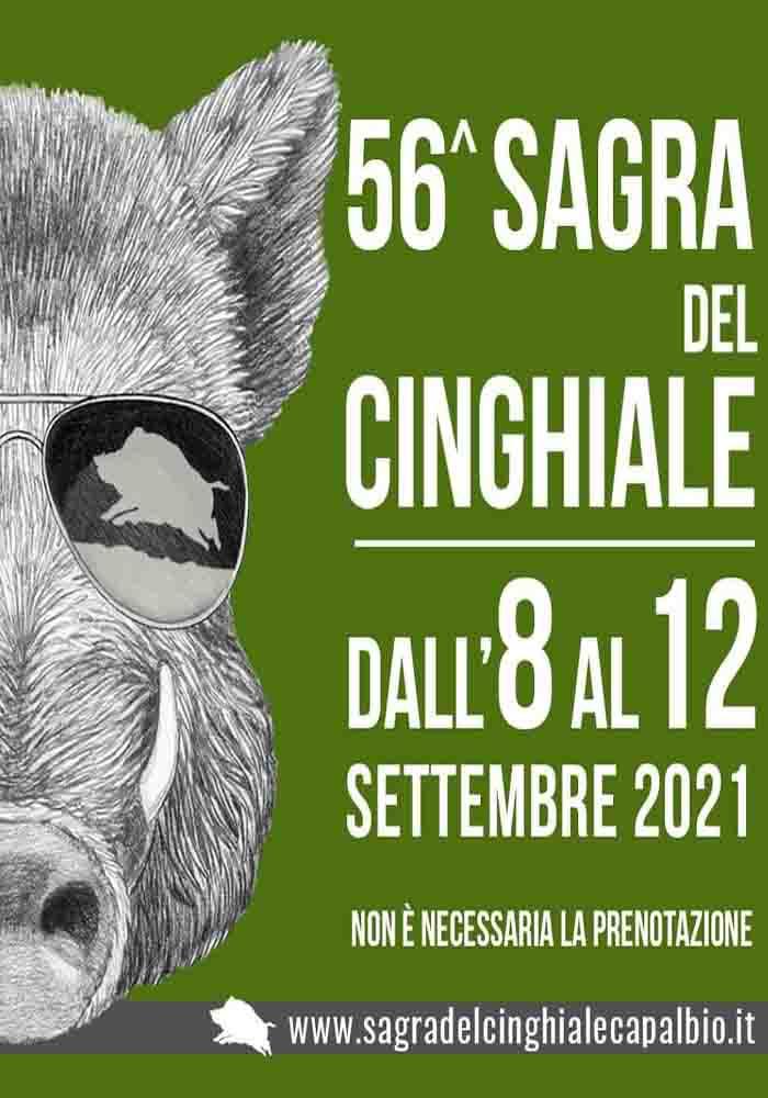Manifesto Sagra del Cinghiale a Capalbio 2021 8-12 Settembre