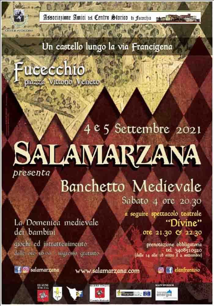 Manifesto Salamarzana Festa Medievale 2021 a Fucecchio 4-5 Settembre