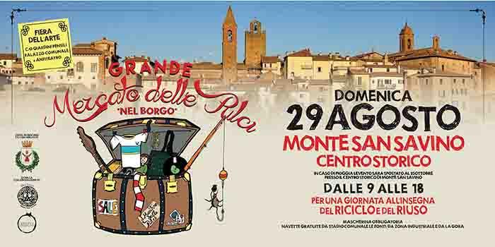 Mercato delle Pulci a Monte San Savino 29 Agosto 2021