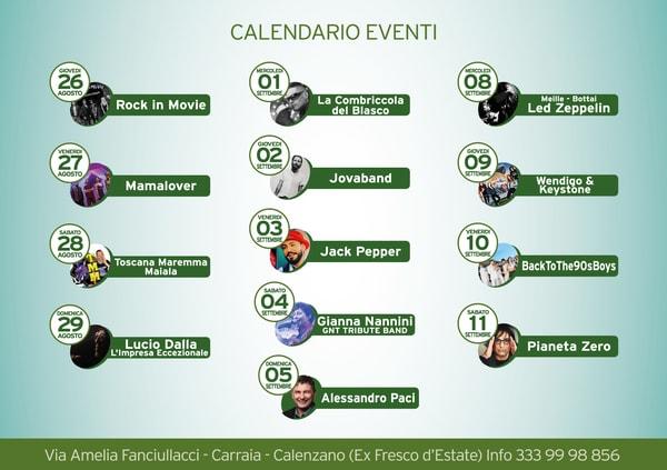 Eventi Calenzano Estate 2021