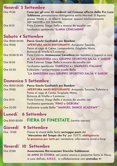 Eventi Casentino Settembre 2021