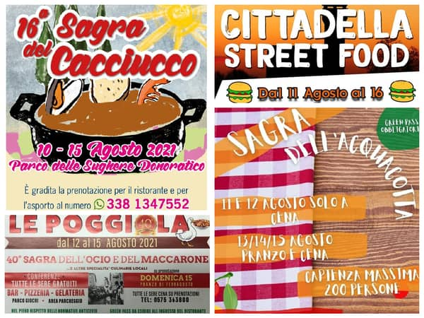 Eventi Toscana Weekend 13 14 15 Agosto 2021