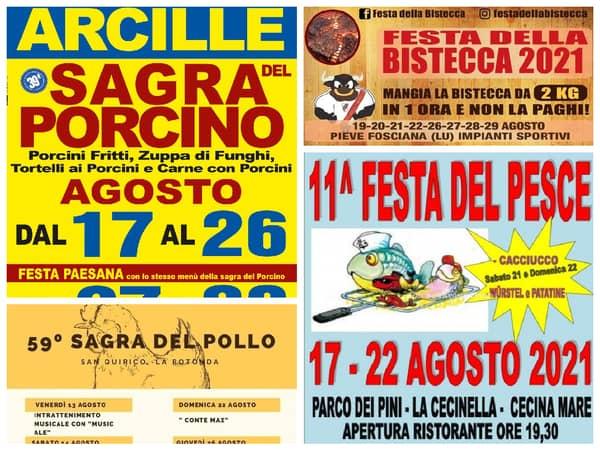 Eventi Toscana Weekend 20 21 22 Agosto 2021