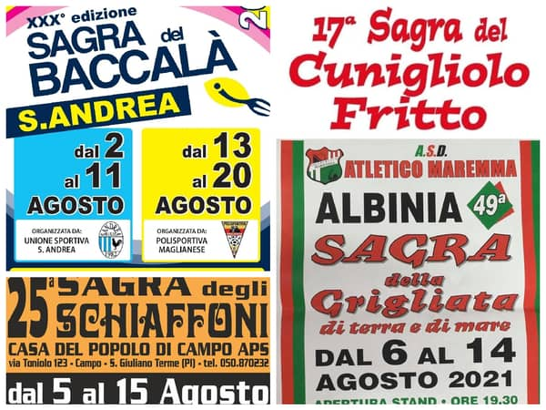 Eventi Toscana Weekend 6 7 8 Agosto 2021