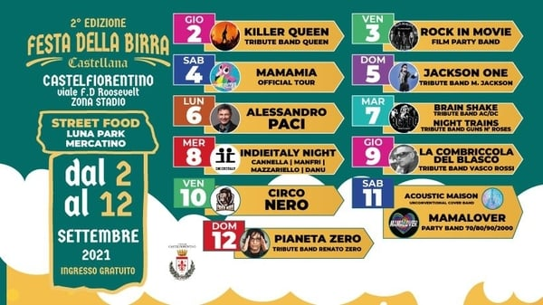 Festa Birra Castellana Castelfiorentino 2021