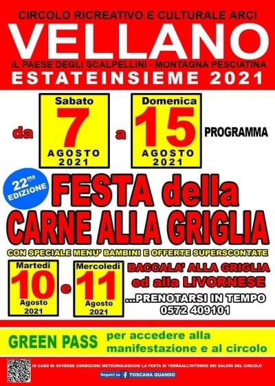 Festa Carne alla Griglia Vellano 2021