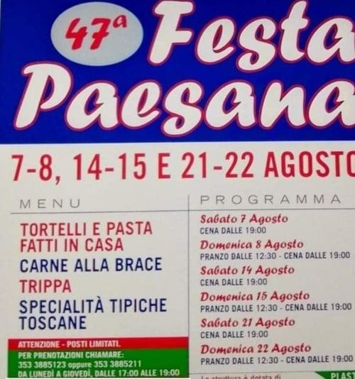 Festa Paesana Serrazzano 2021