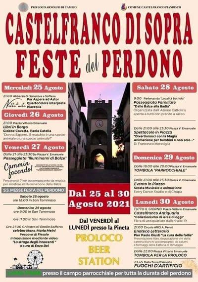 Festa Perdono Castelfranco di Sopra 2021