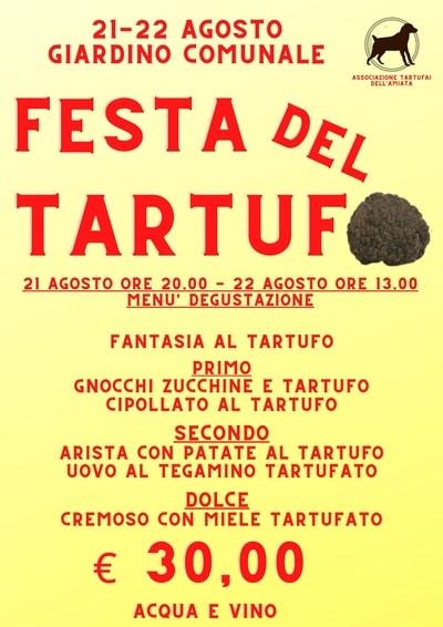 Festa Tartufo Castell Azzara 2021