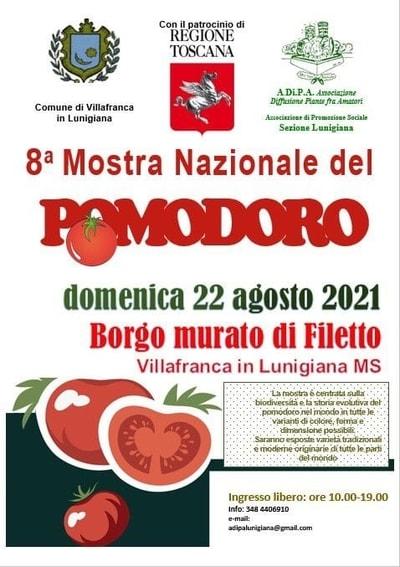 Mostra Pomodoro Filetto Lunigiana 2021