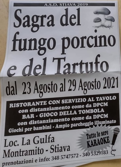 Sagra Fungo Porcino Tartufo Gulfa 2021