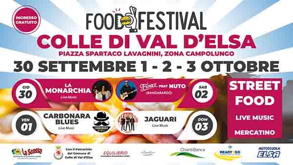 Food Festival a Colle Val d'Elsa 30 Settembre e 1-2-3 Ottobre 2021
