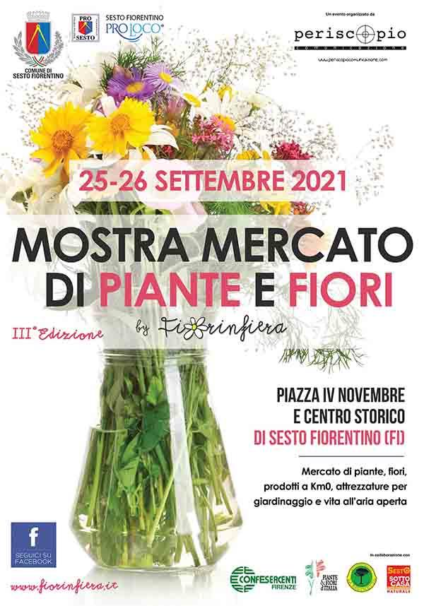 Manifesto Fiorinfiera a Sesto Fiorentino 2021 25-27 Settembre