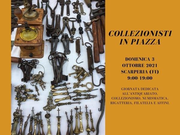 Collezionisti in piazza Scarperia ottobre 2021